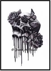 Skulls 'n' Roses by pbird12