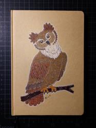 Sketchbook with owl