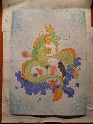 Chinese dragon vs Koifish