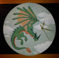 Dragons clock - Drachenuhr