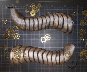 WIP Steampunk dragon horns :)