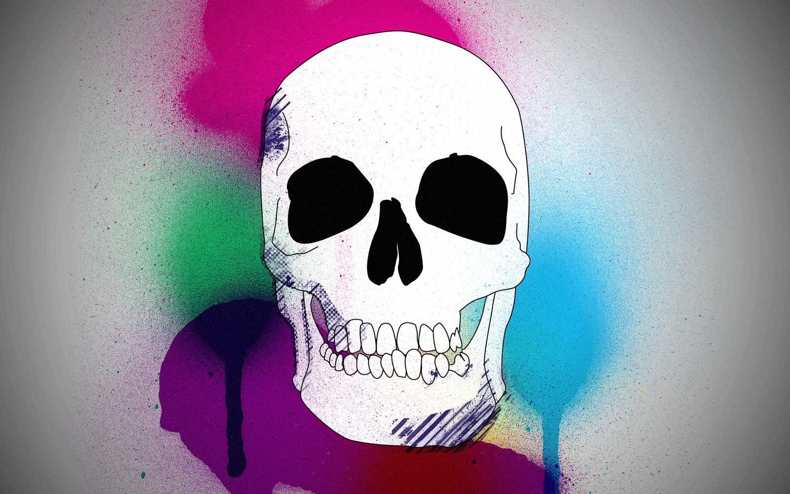 Scull In Colors Wallpaper By Thvg On Deviantart