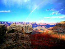 Grand Canyon with Rainbow