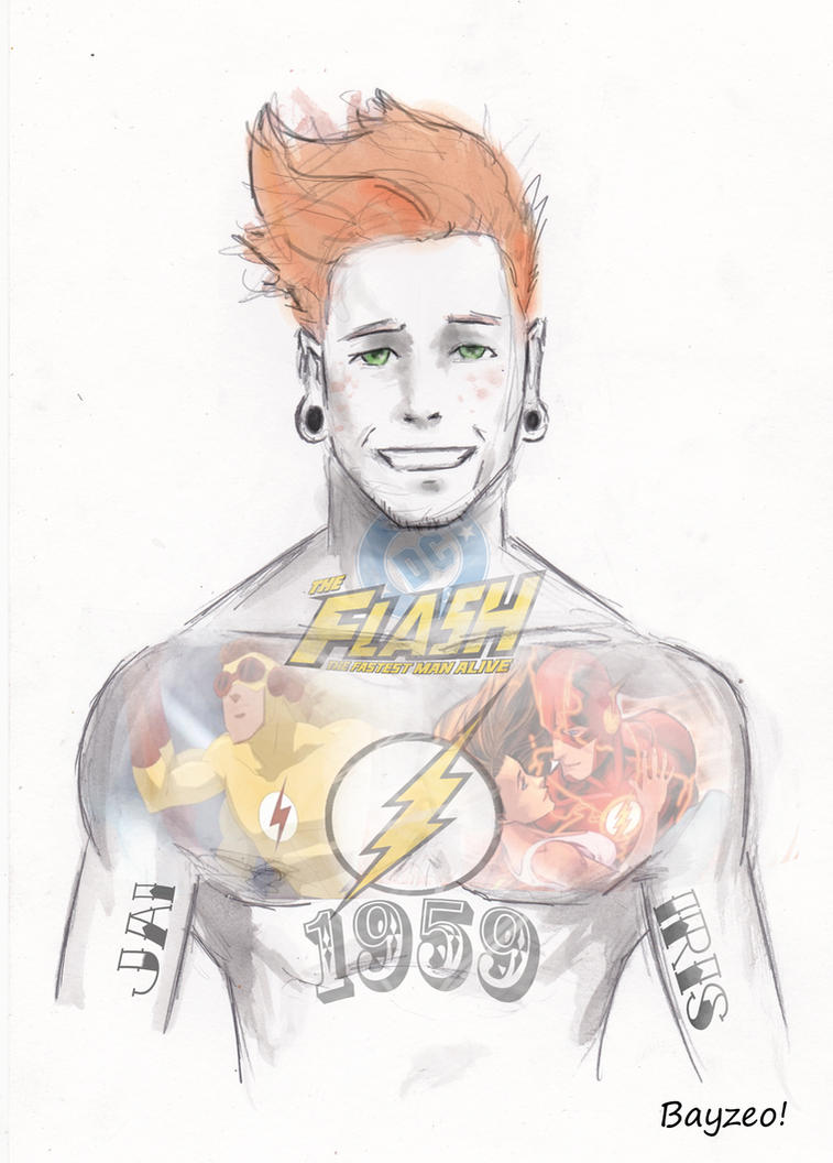 Wally West tattoo variant by AdamBayes