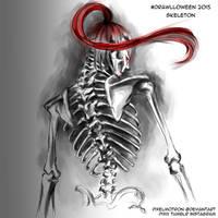 Skeleton Drawlloween 2015 by modrawmanga