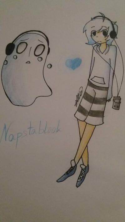 Napstablook by acakewithsugar