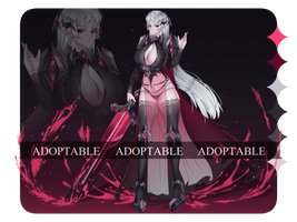 [OPEN] Vampire Warrior Adoptable (auction) by Lula-Noon