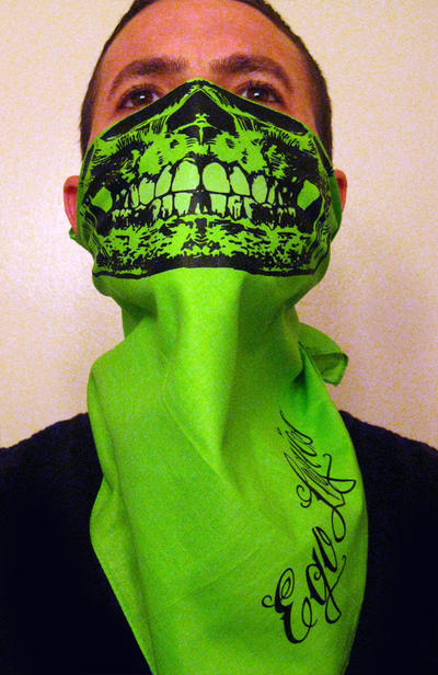 Neon Green Bandana Ganja neon green and glowGreen Bandana