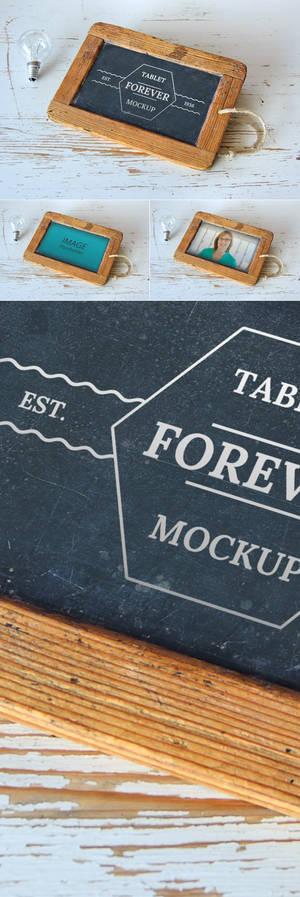 Free Tablet Forever Mockup