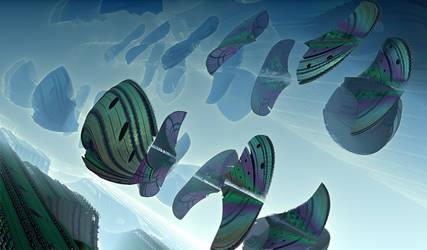 Interplanar Ships in Vortex by NimoStar