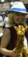 Patty and the giraffe at AB'12