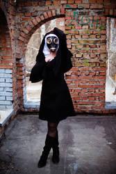 Gothic Nun Gasmask Stock