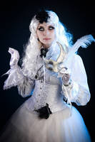 White Gothic Mask Stock by Nerium-Oleanders
