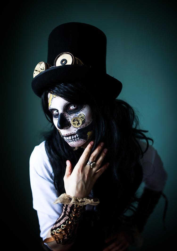 Steampunk Sugar Skull Mask Stock by Nerium-Oleanders
