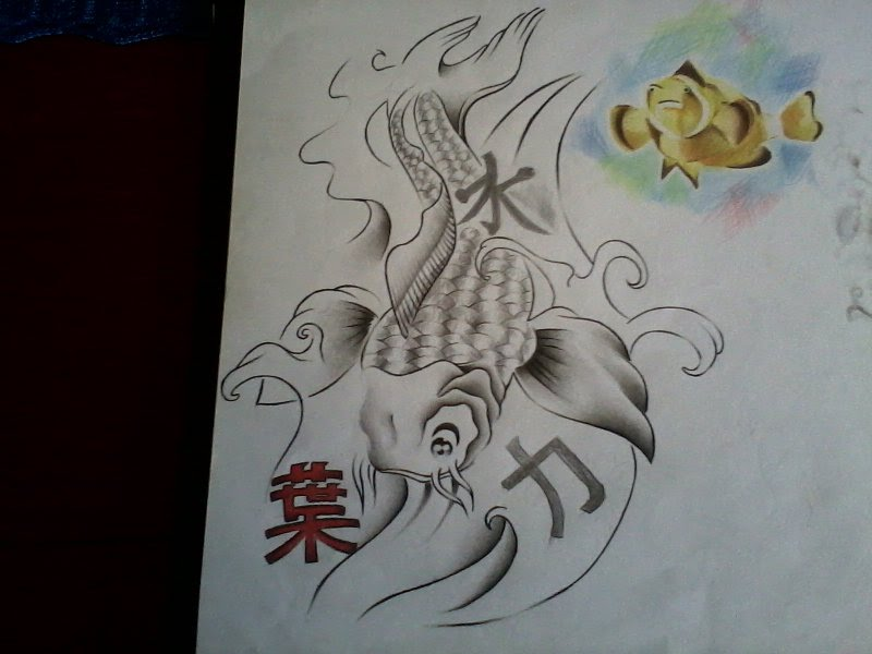 carpa japonesa tattoo by gomapunkabc on deviantart