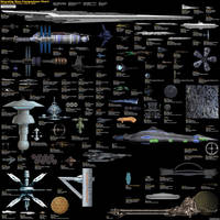 Starship size comparison chart by EducatedEarth