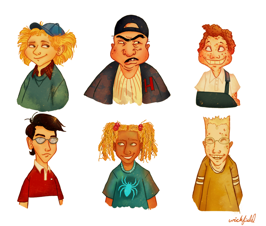 hey arnold characters - 900×763