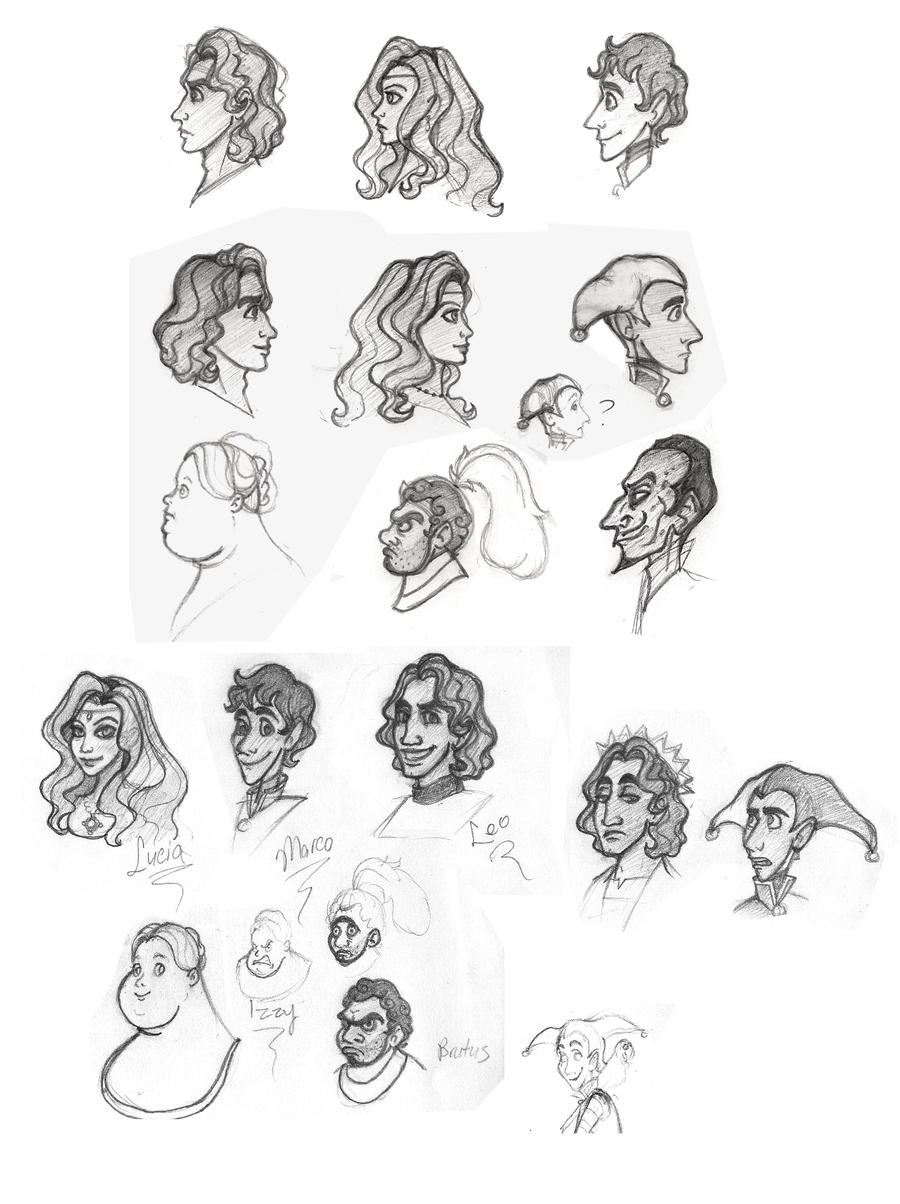 Fooled design sketches by Wickfield