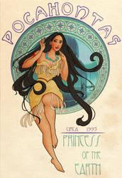Disney Art Nouveau: Pocahontas by Wickfield