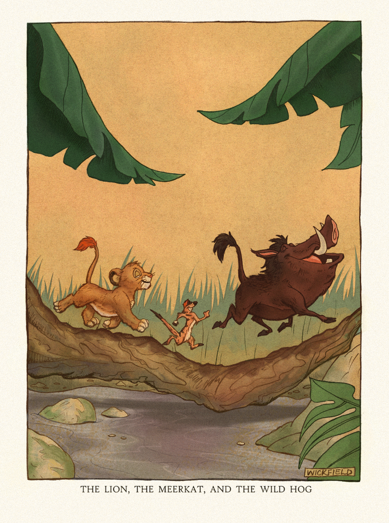 Disney Coloring Book Contest: Lion King Aesop by Wickfield