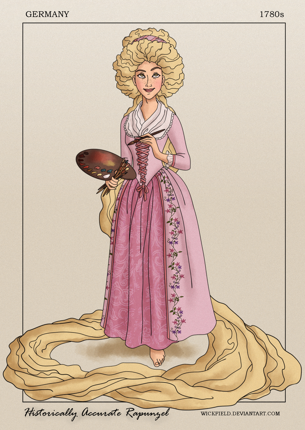 Historically Accurate Rapunzel by Wickfield