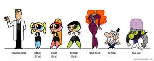 Futurepuffs AU Character Designs