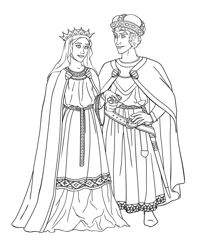 Sigmund and Ines Lineart by Wickfield