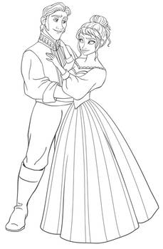 Hans and Natalia Lineart