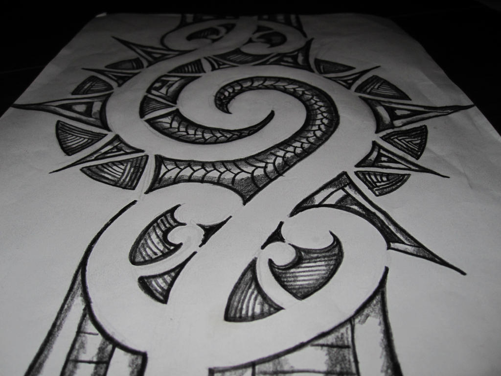 maori inspired tattoo design. pencil sketch by ...