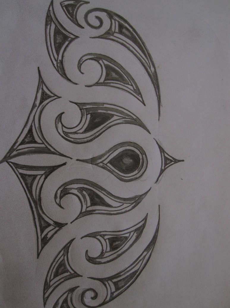 Maori inspired tattoo design pencil sketch by tattooeddnbhead