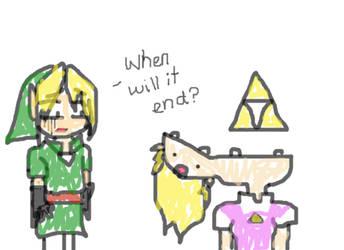 Link is scared by Zelda by Link-da-Link