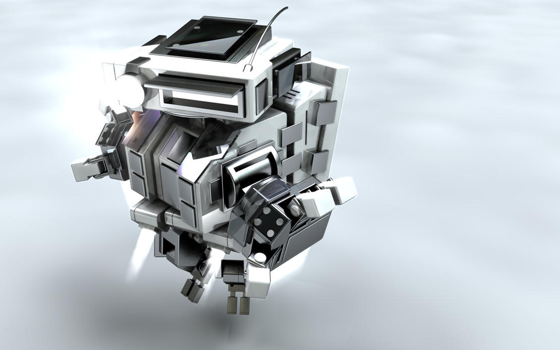 Square Robot WP by TheAnimator0