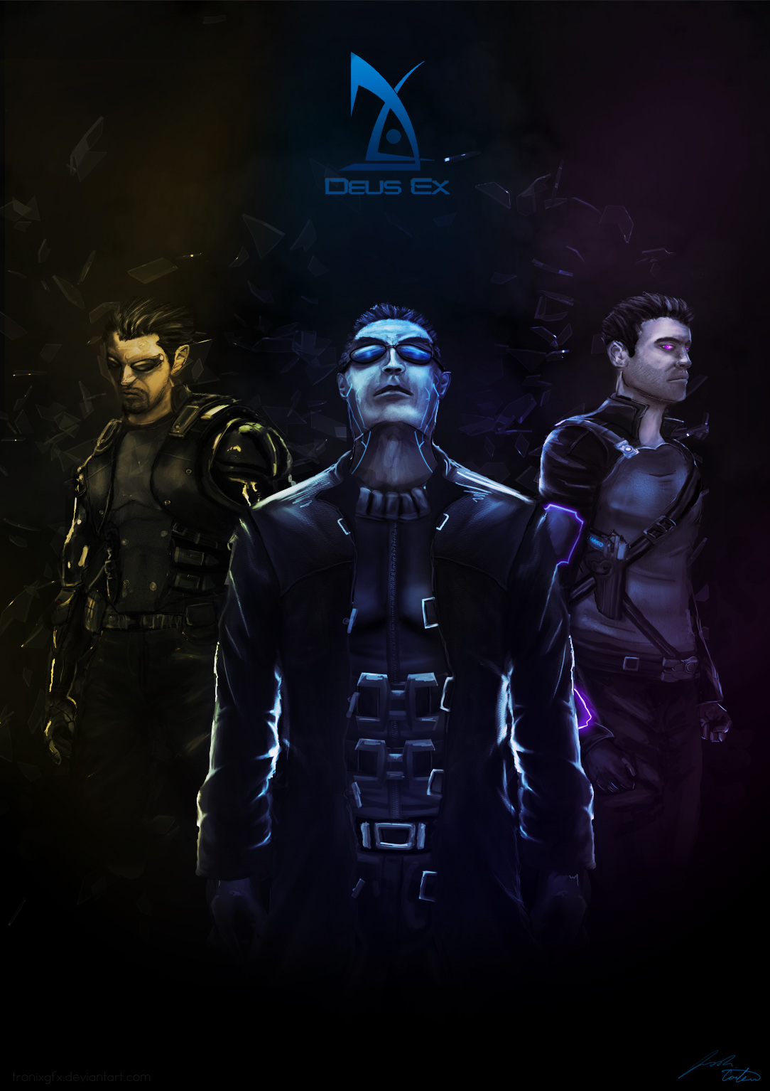 Deus Ex: Protagonists by TronixGFX