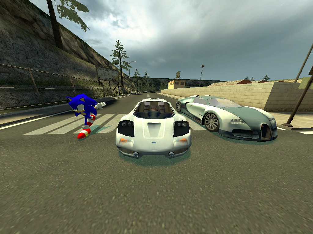 gmod sonic vs f1 vs bugatti veyron by paranoid1234567 on. Black Bedroom Furniture Sets. Home Design Ideas