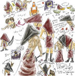 Silly Pyramid Head sketches
