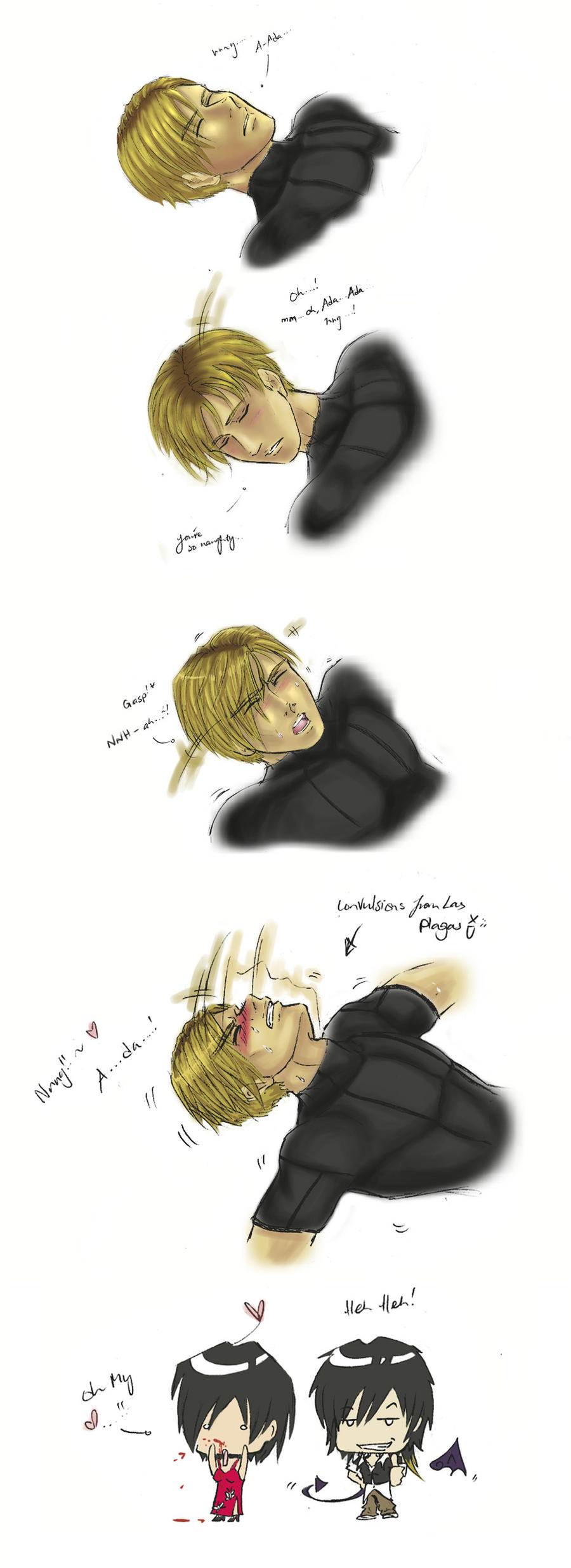 While Leon fainted... by Silent-Neutral