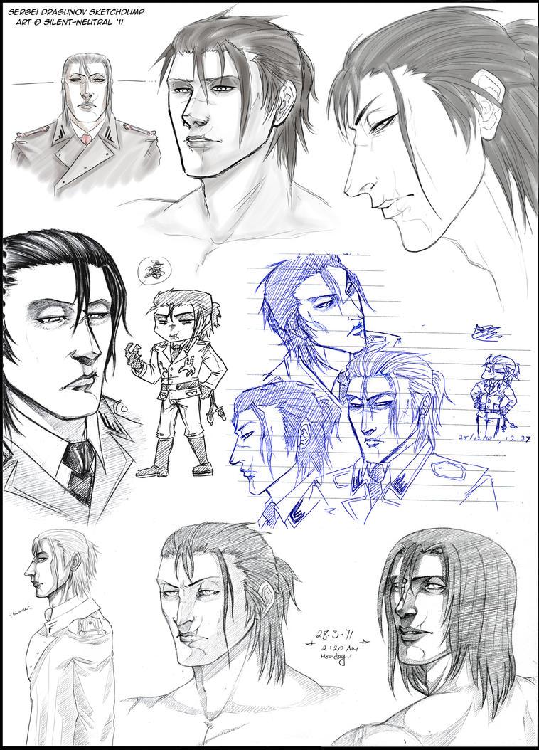 Dragunov sketches by Silent-Neutral