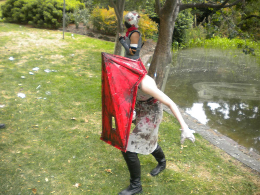 Red Pyramid Head cosplay by Silent-Neutral