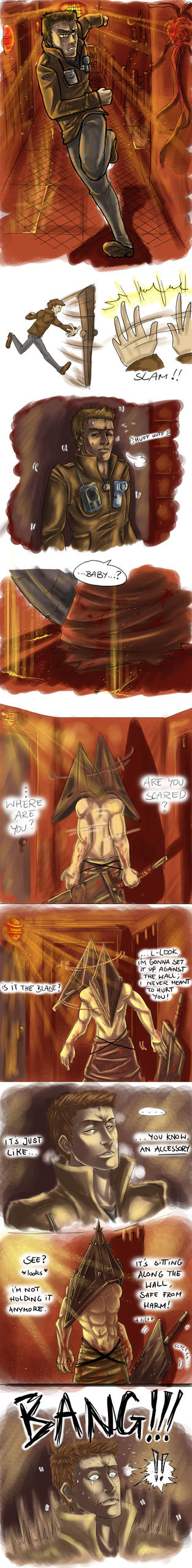 SH5: Enter PyramidHead once again..(part 1) by Silent-Neutral