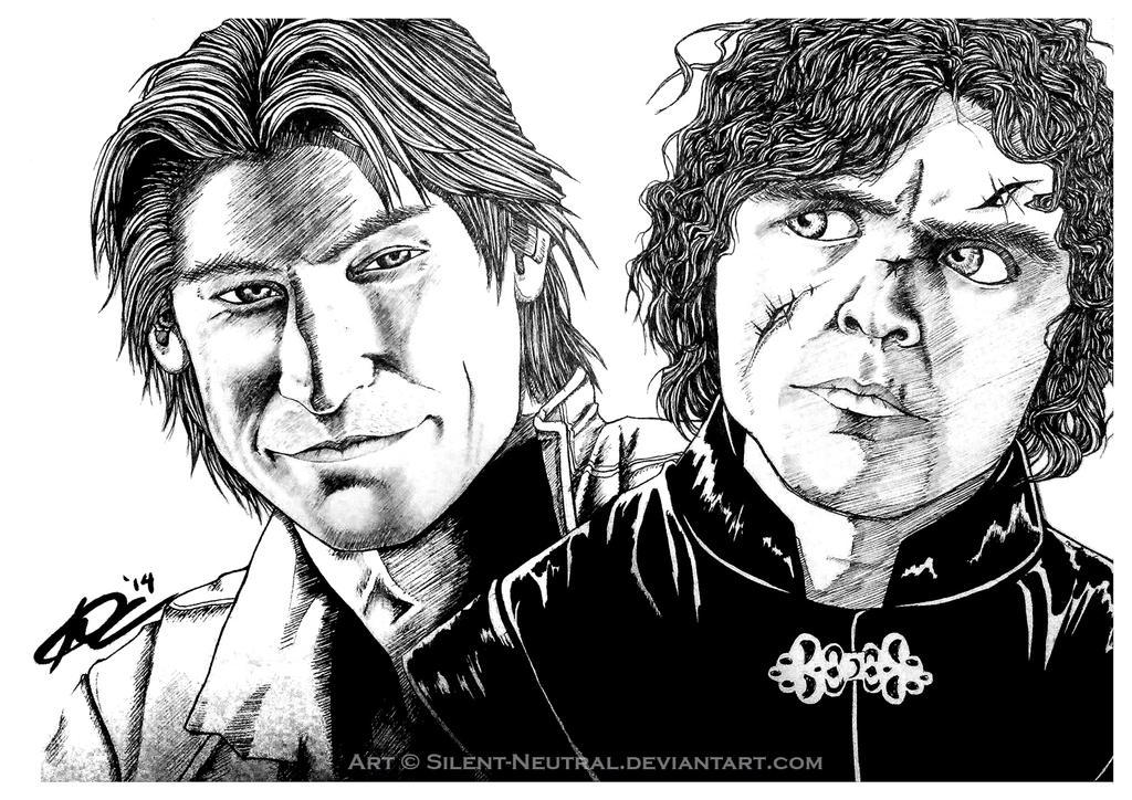 GOT: Jamie + Tyrion by Silent-Neutral
