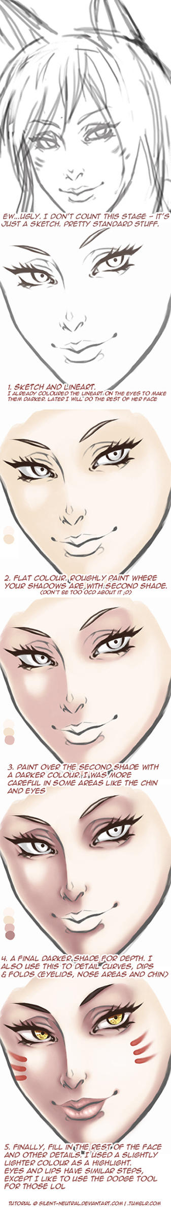 Tutorial: Painting a face by Silent-Neutral