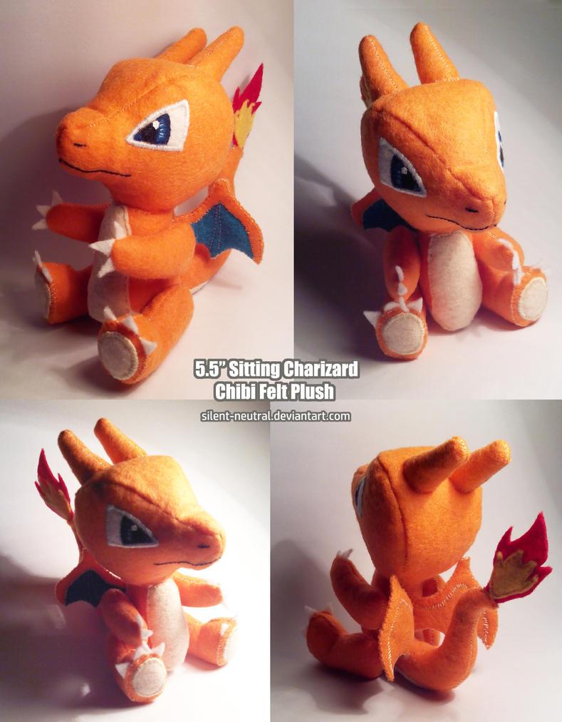 Pokemon - Charizard Plush by Silent-Neutral