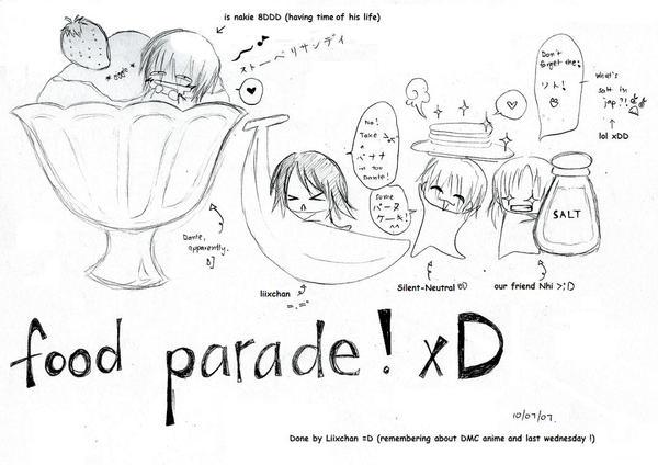 fooood parade xDD by Silent-Neutral