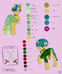{Ref Sheet} Cappella-MLD Character by lps-Nerdz