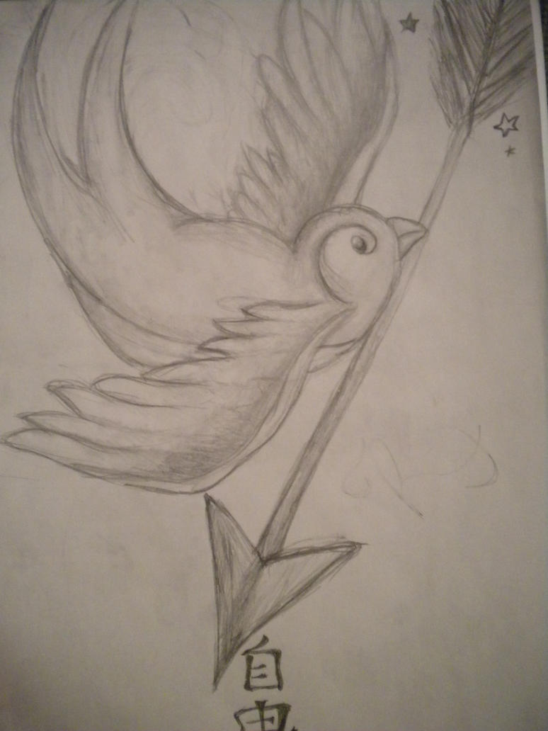 Sparrow Tattoo Drawings