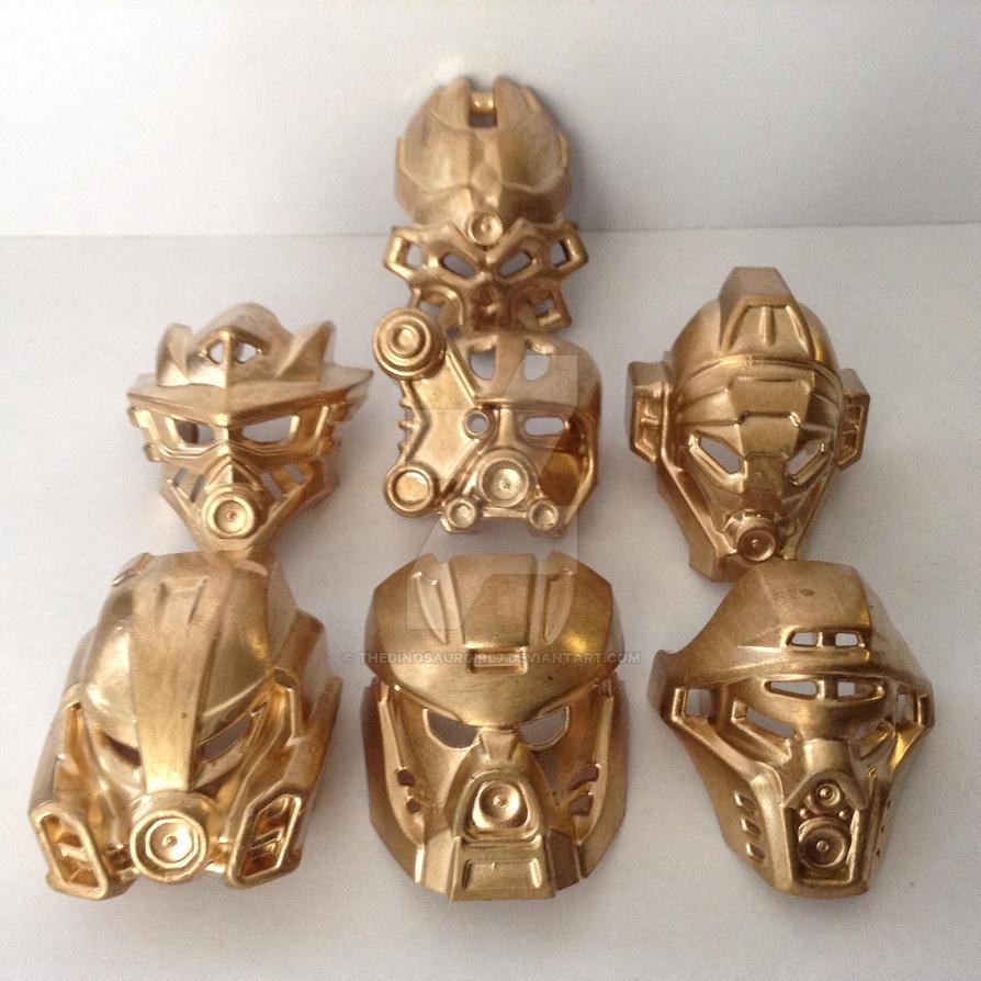 Custom Painted Bionicle Masks