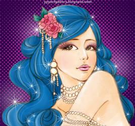 Blue hair by skullyan