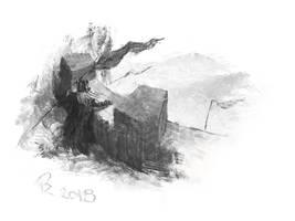Dwarf king - dragon is coming... by Crocorax