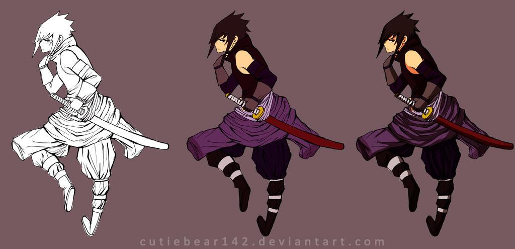 Samurai Sasuke by xCluBearx