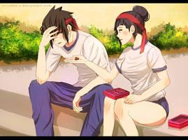 Here! One chocolate for you, Sasuke-kun